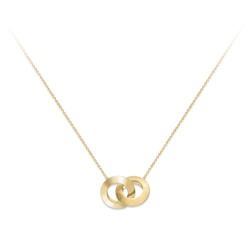 9ct Yellow Gold Large Double Hoop Design Pendant-0