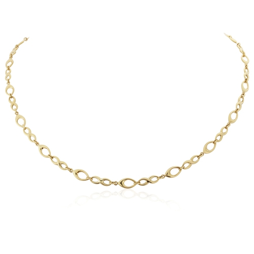 9ct Yellow Gold Open Link Necklace-0