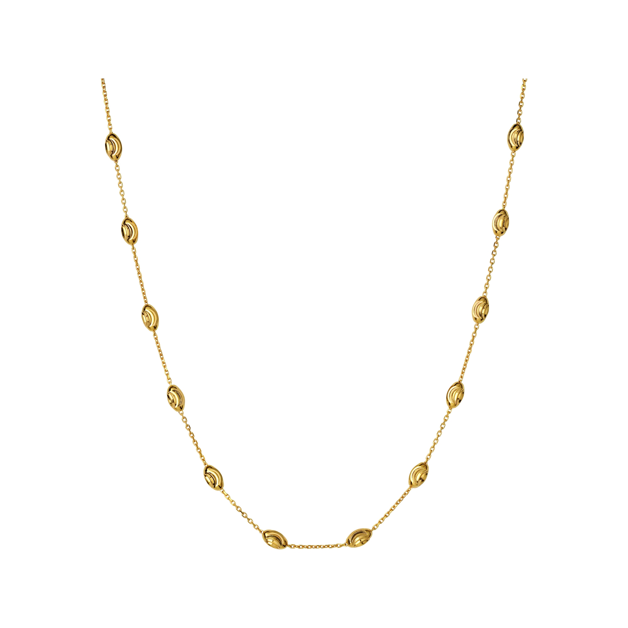 Links of London Essentials 18kt Yellow Gold Vermeil Beaded Chain Necklace 45cm-0