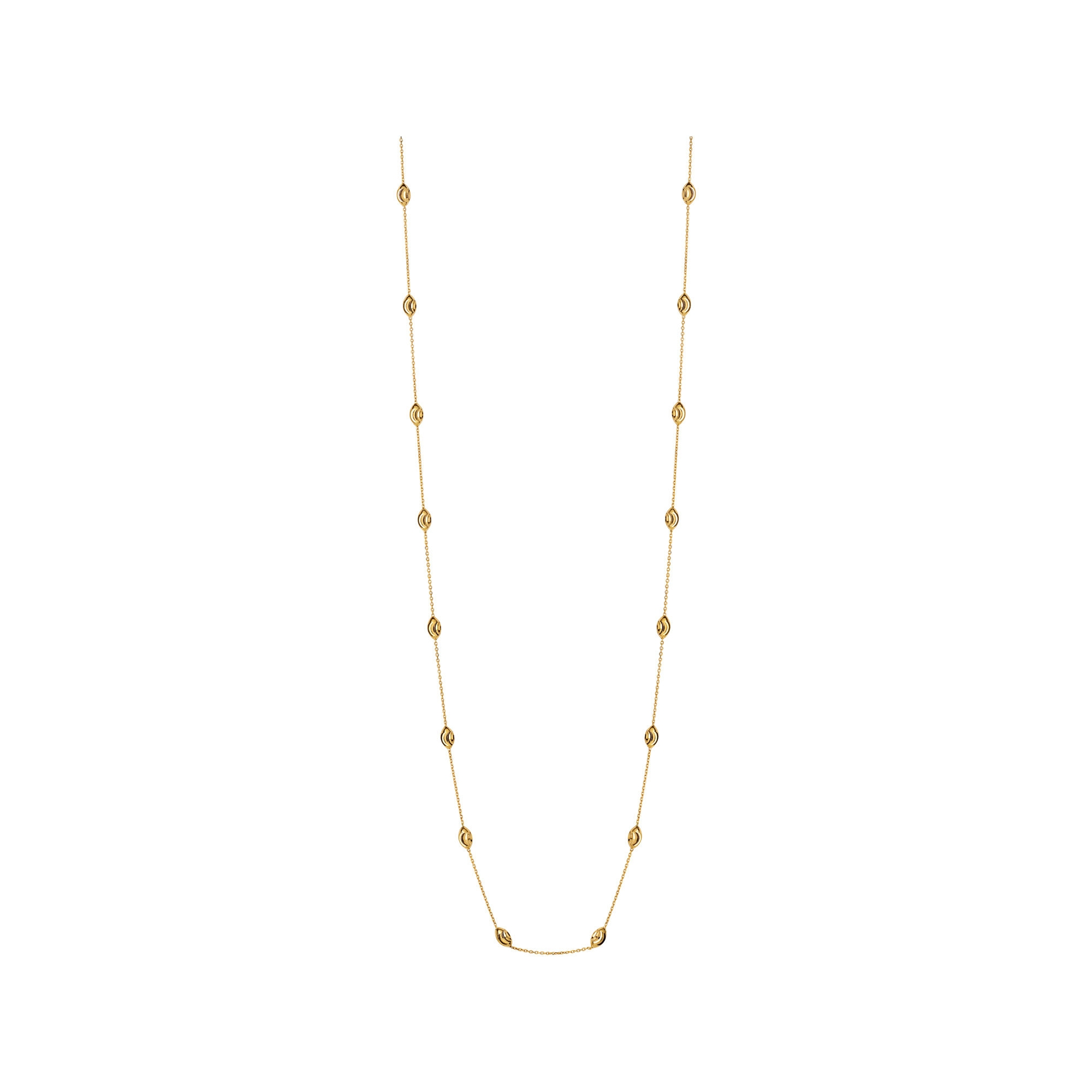 Links of London Essentials 18kt Yellow Gold Vermeil Beaded Chain Necklace 80cm-0