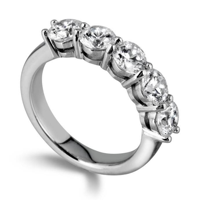 0.62ct Brilliant Cut Five Stone Diamond Ring
