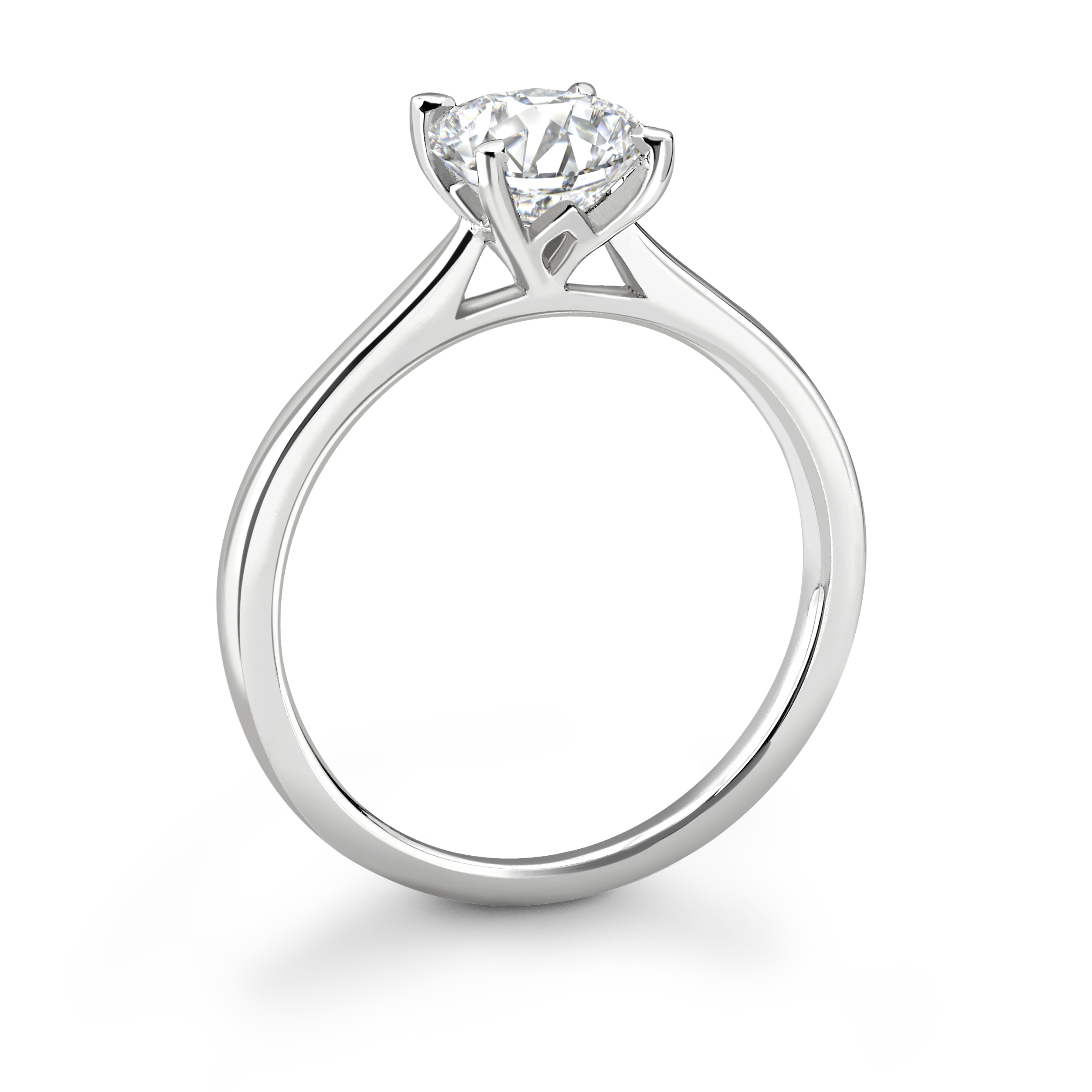 Four Claw Platinum Diamond Solitaire Engagement Ring