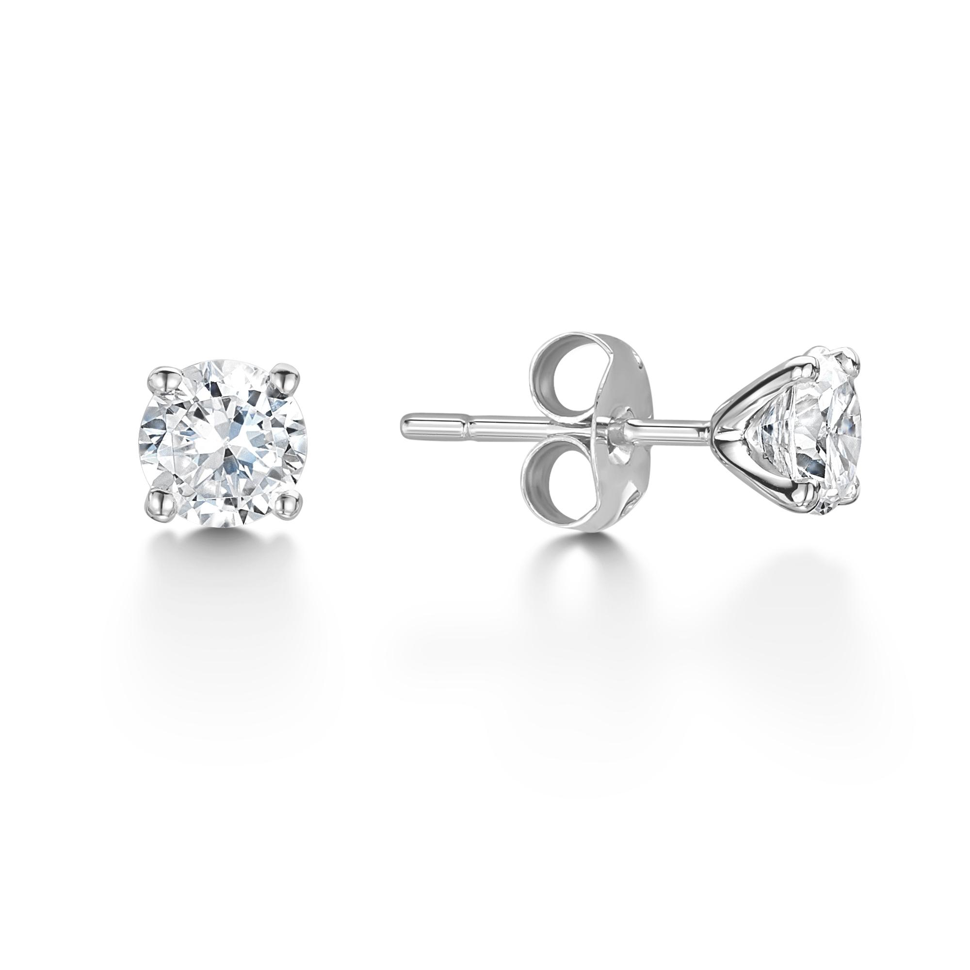Excellent Value 2.01ct Diamond Stud Earrings-1457