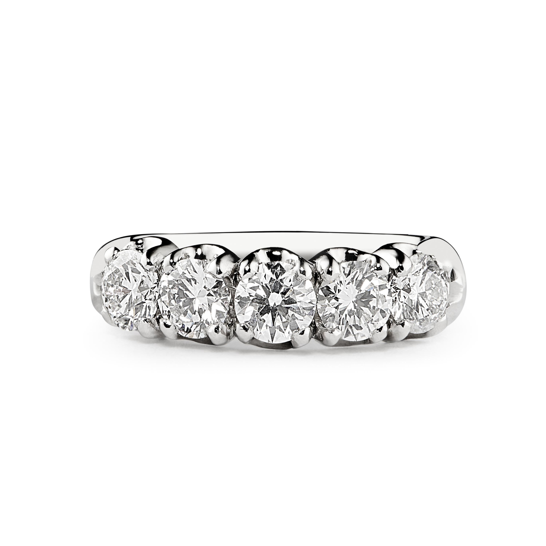1.17ct Brilliant Cut 5 Stone Diamond Ring