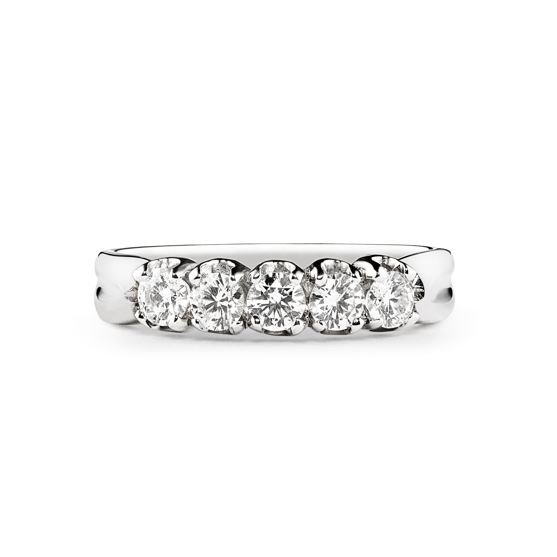 18ct White Gold 0.22ct Diamond Half Hoop Ring