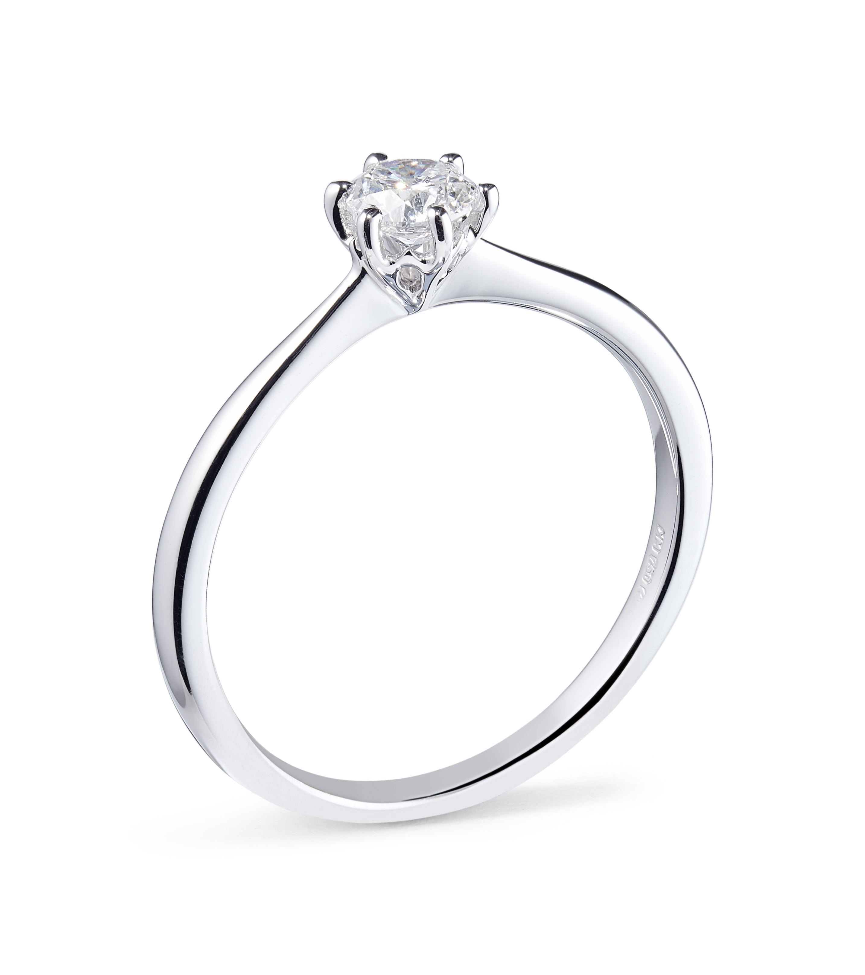 0.31ct Six Claw Solitaire Ring in 18ct White Gold