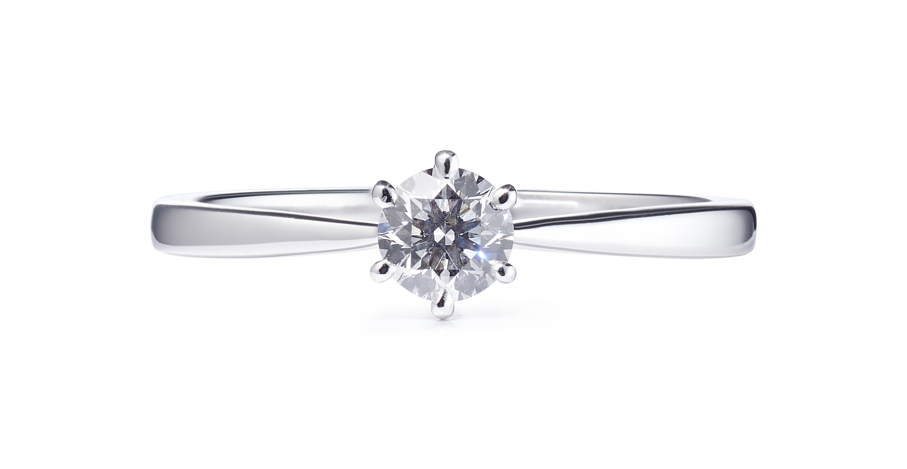 0.41ct Platinum 6 Claw Diamond Solitaire