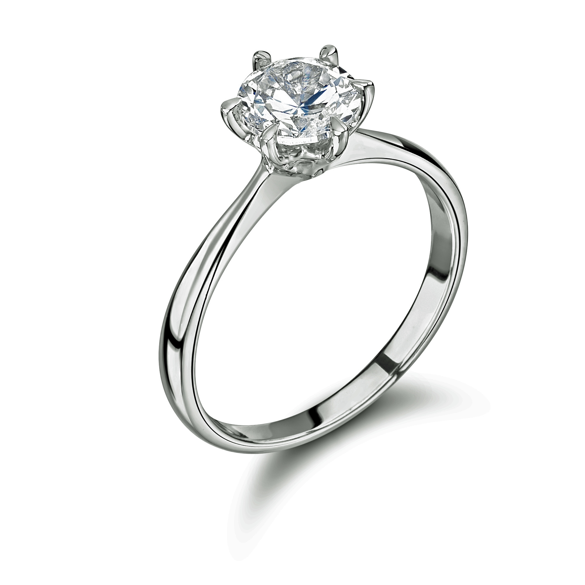 0.30ct Six Claw Solitaire Ring in Platinum-0