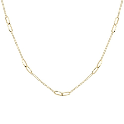 9ct Yellow Gold 17 Inch Necklet-0