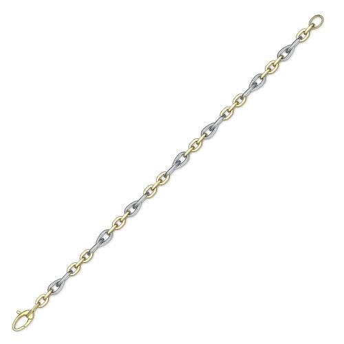 9ct Gold Two Colour Bracelet-0
