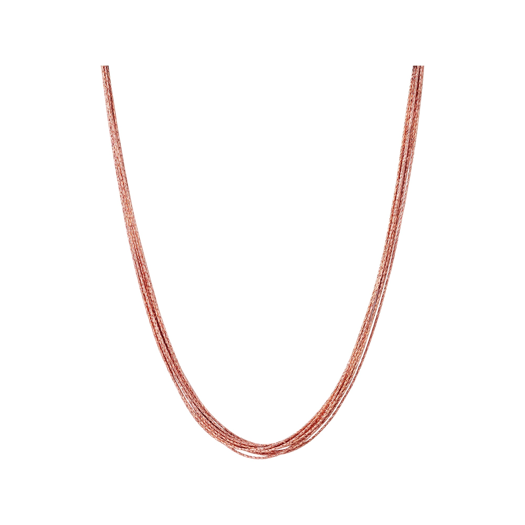 Links of London Essentials Rose Gold Vermeil Silk Ten Row Necklace