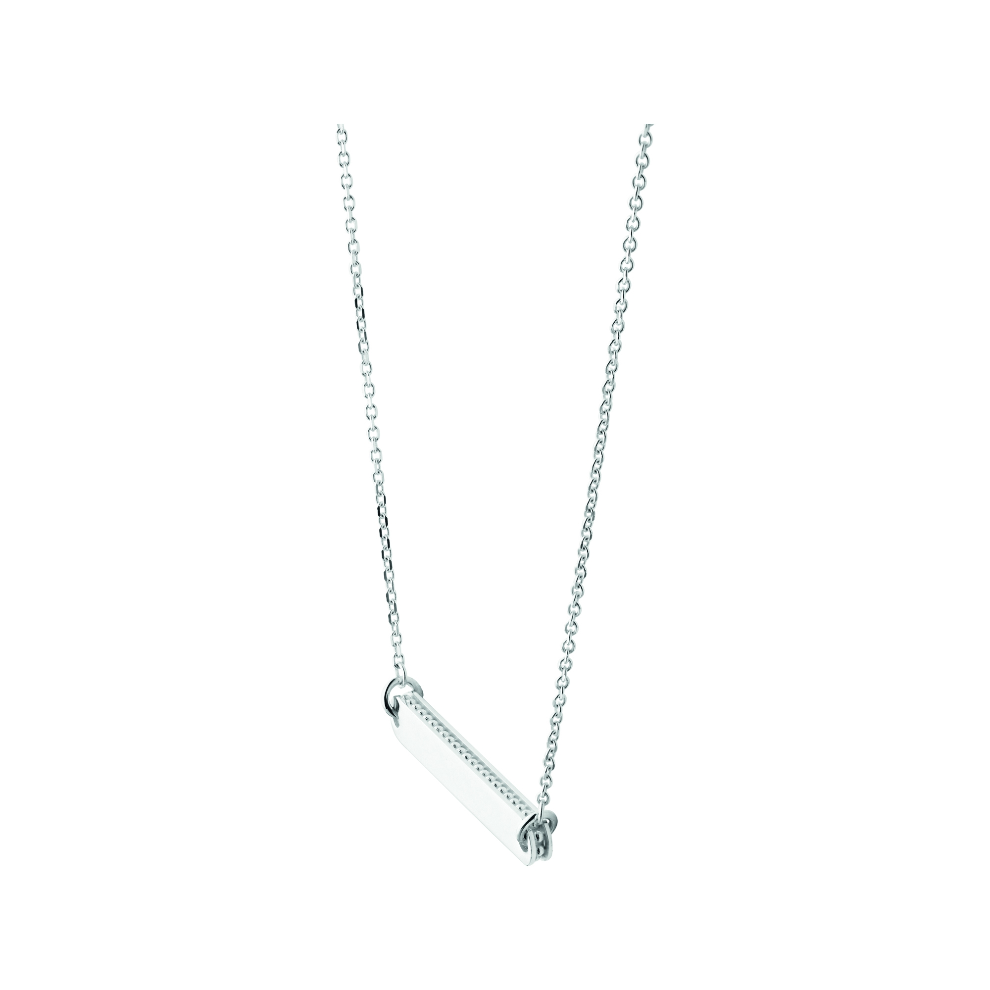 Links of London Silver Narrative Bar Necklace