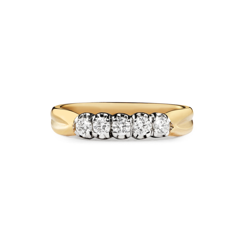 0.28ct, 18ct 5 Stone Ring