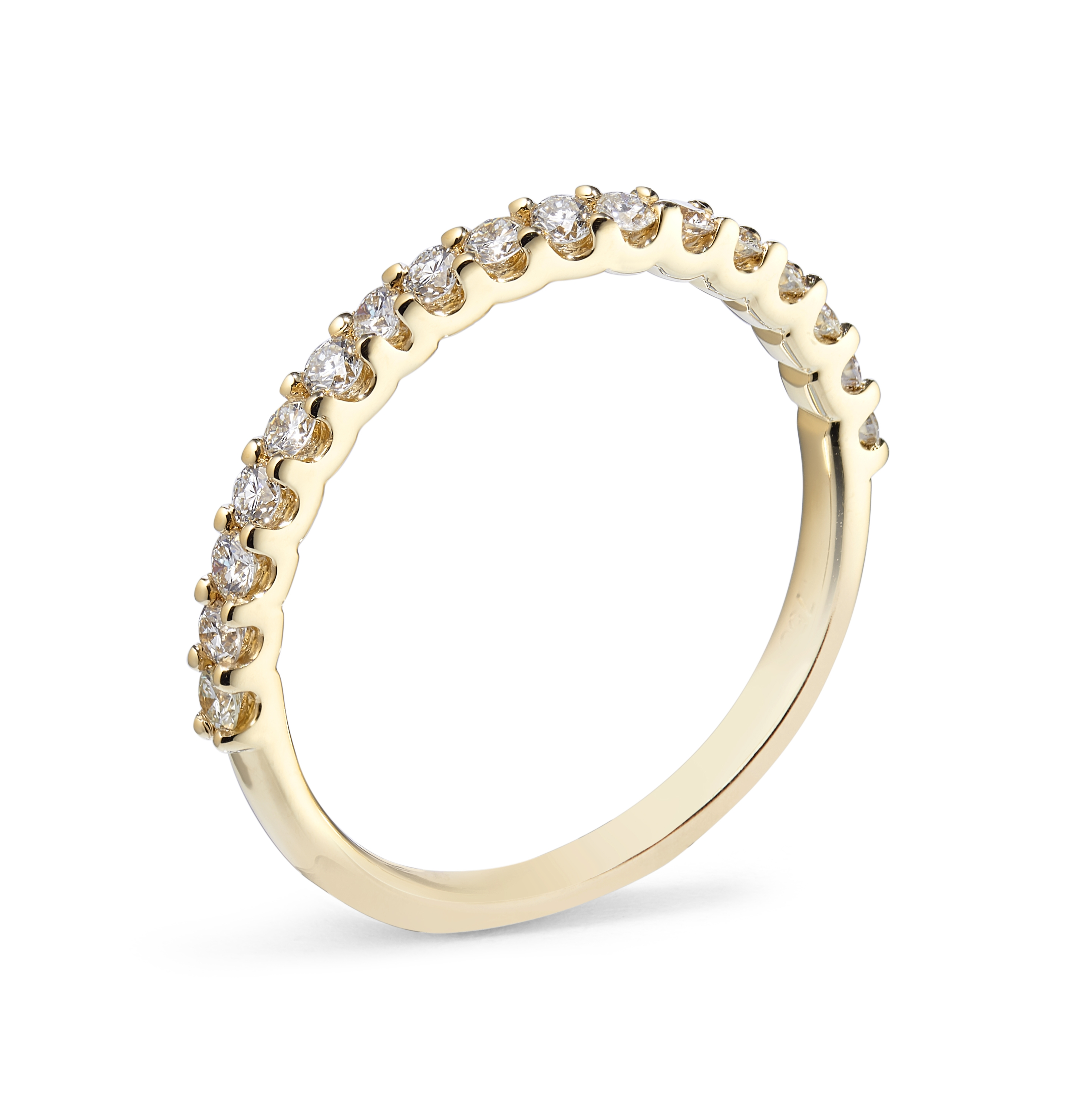 0.19ct 18ct Yellow Gold 50% Claw Set Ring – Size M