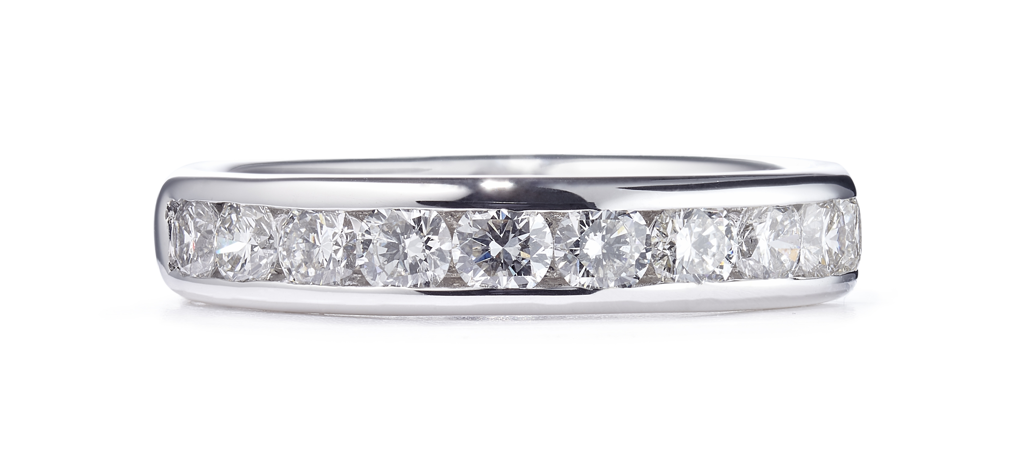 1.34ct Platinum Mounted Channel Set Ring – Size O 1/2