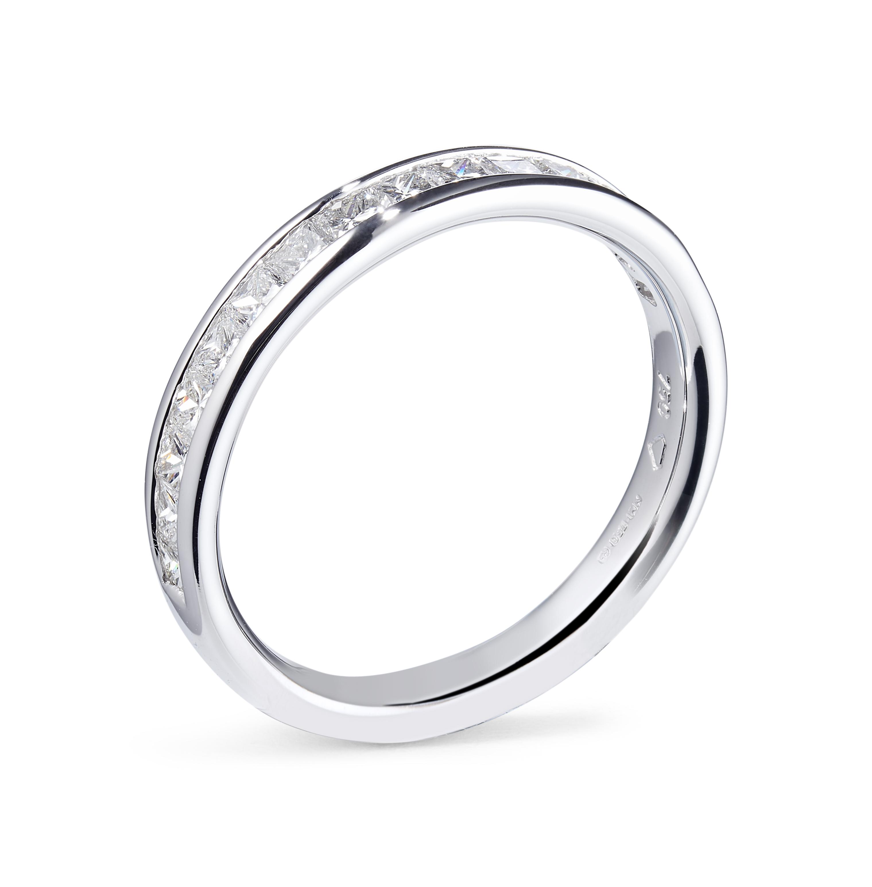 18ct 50% Grain Set Brilliant Cut Diamond Ring