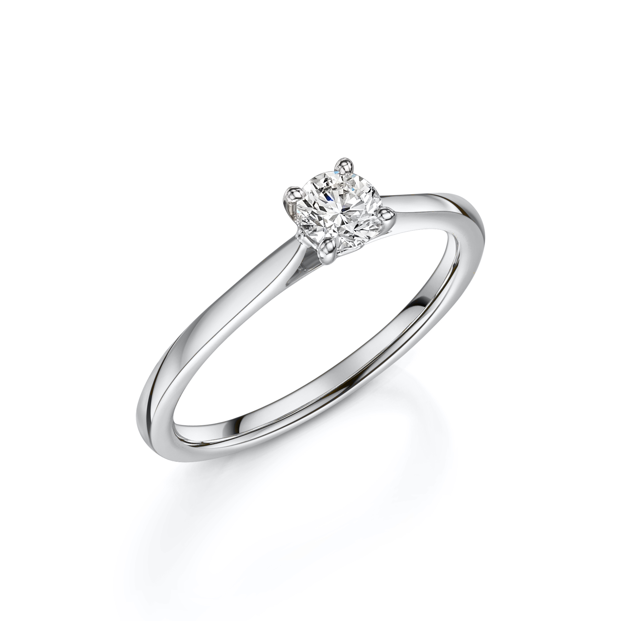 Pre-Owned – 0.80ct Platinum 4 Claw Diamond Solitaire