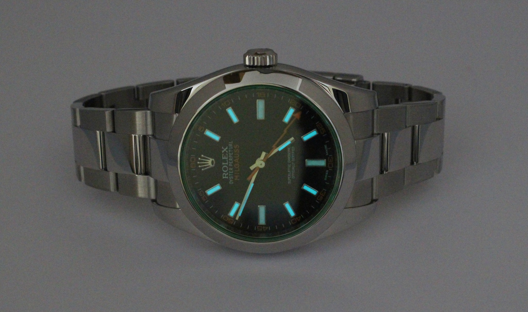 Gents Rolex Green Milgauss Watch