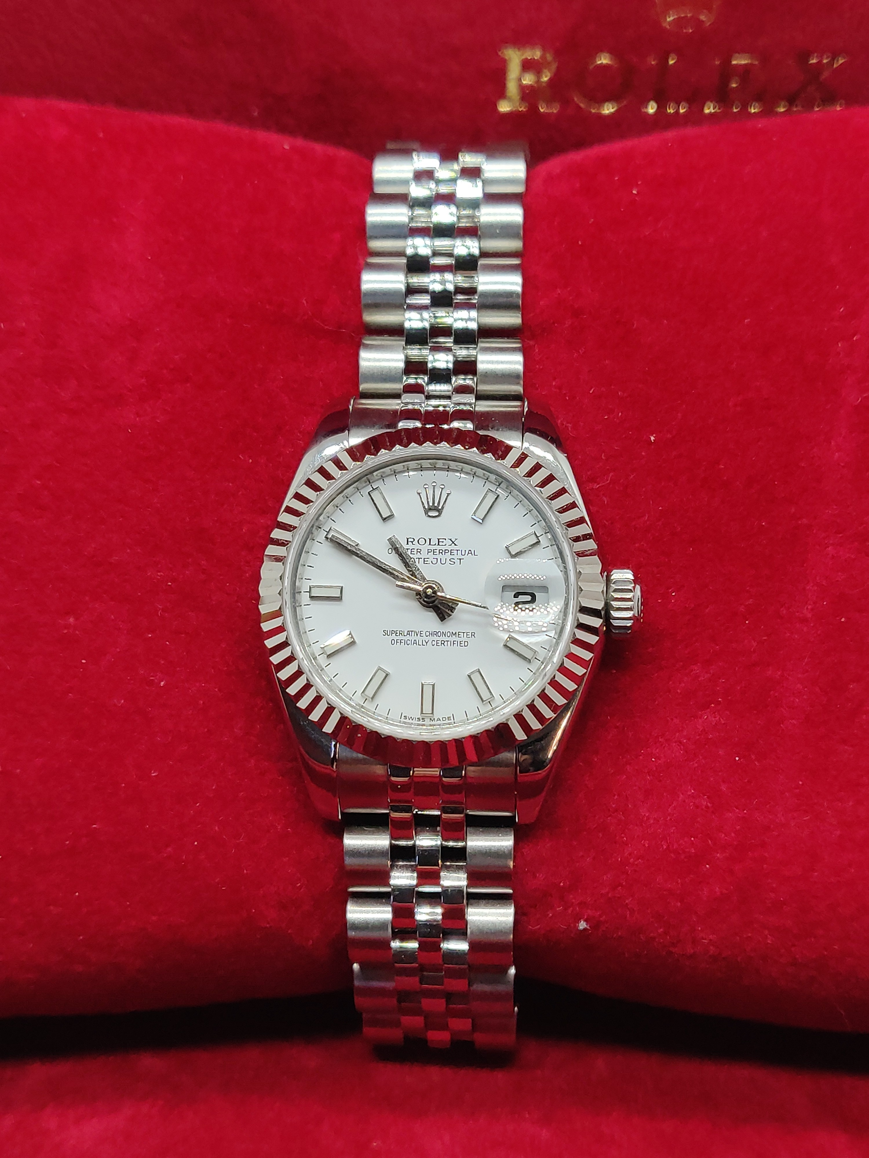 Rolex Lady Datejust 26 in Stainless Steel and White Gold