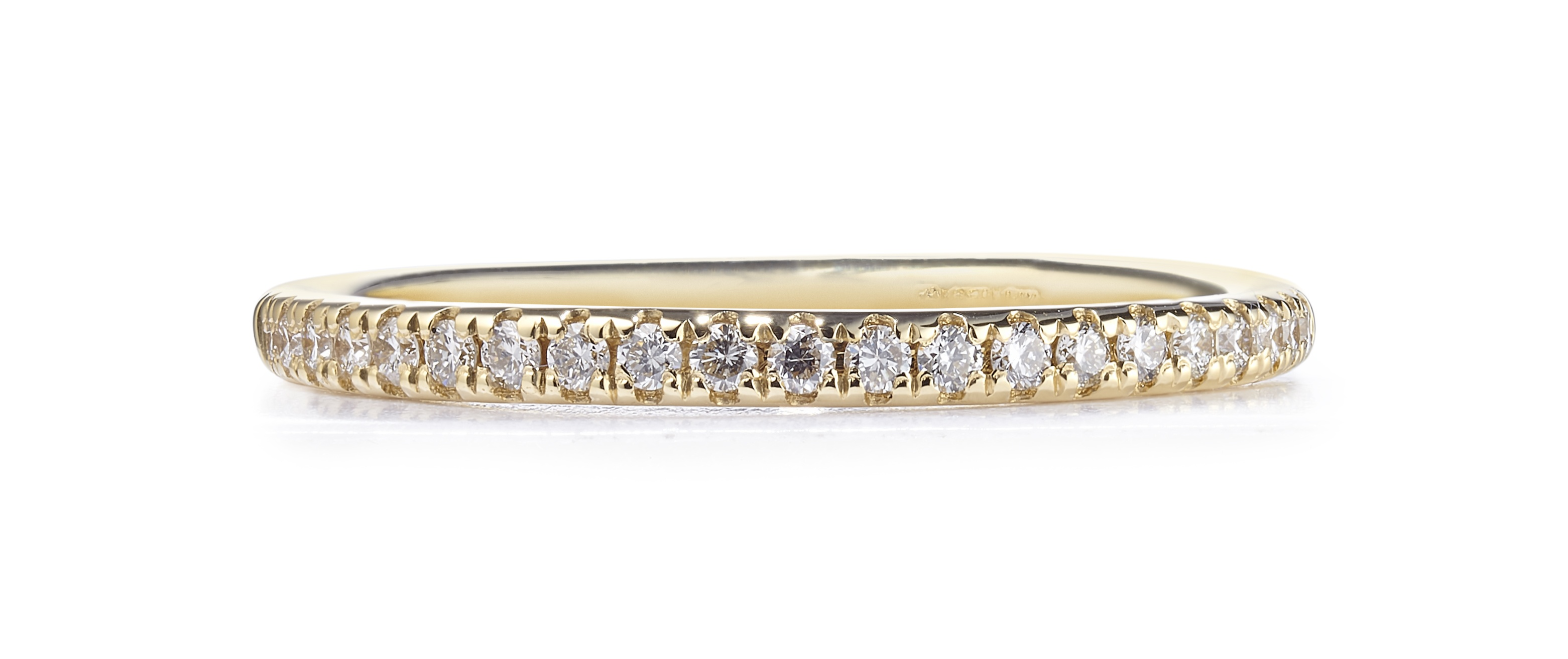 0.18ct 18ct Yellow Gold Micro-Claw Set Eternity Ring – Finger Size N