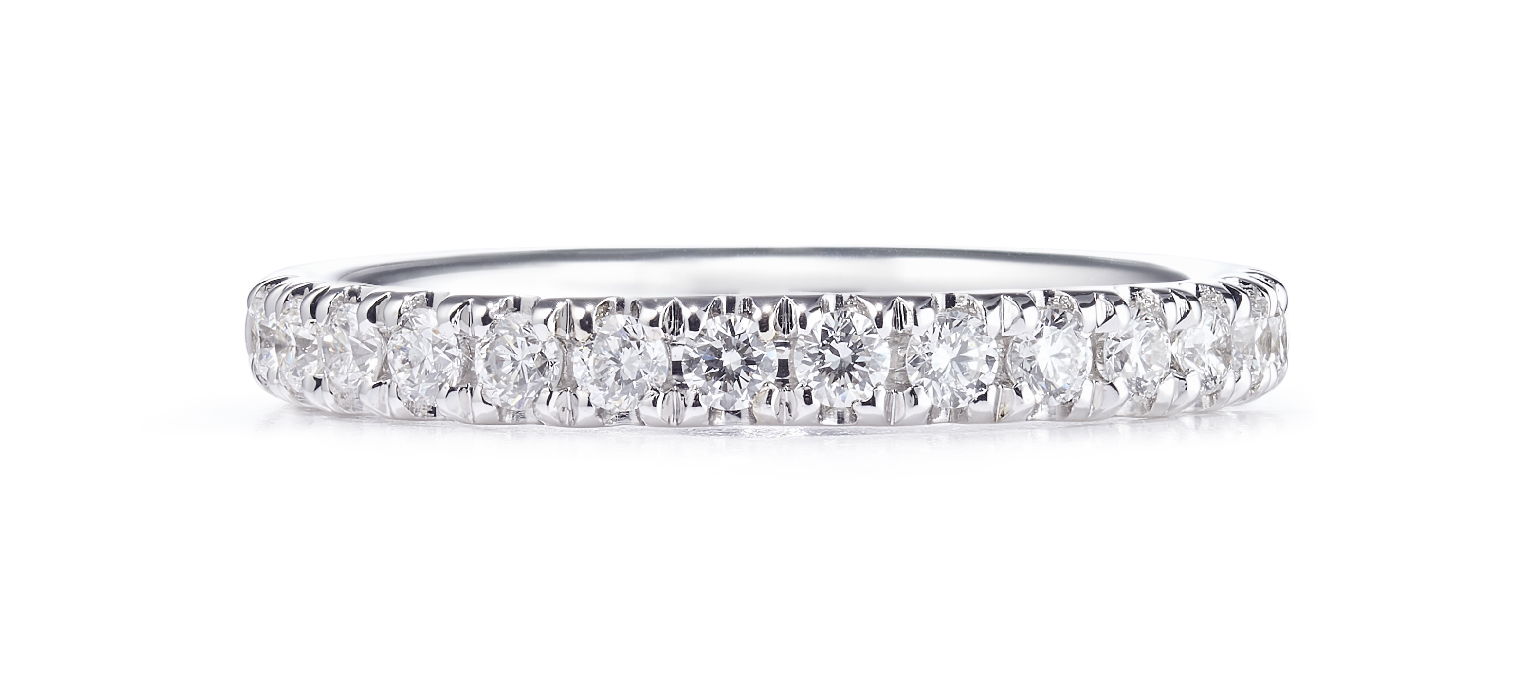 0.17ct Platinum Mounted Micro-Claw Set Eternity Ring – Finger Size M