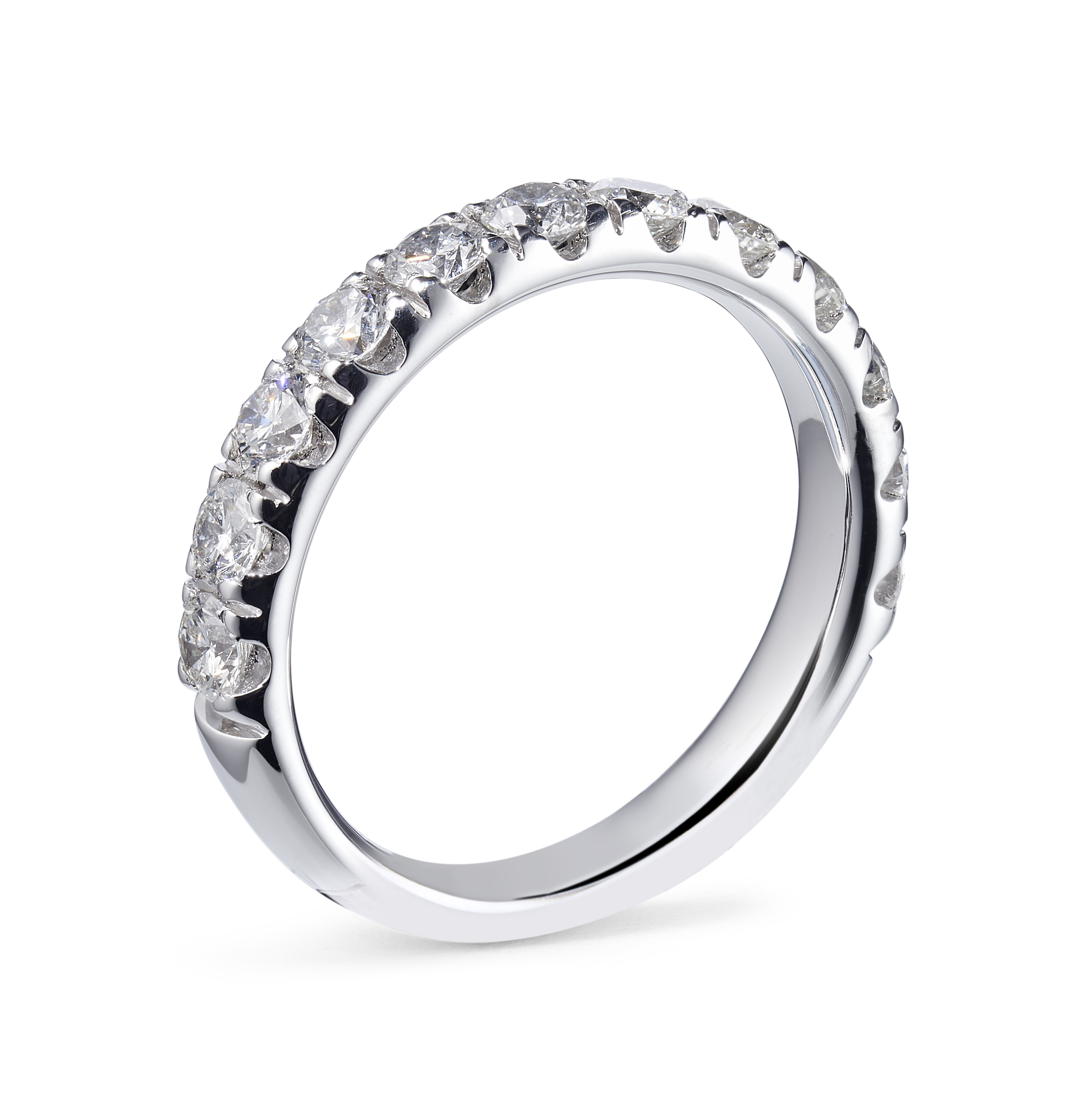 1.38ct Platinum Mounted Micro-Claw Set Eternity Ring – Finger Size O