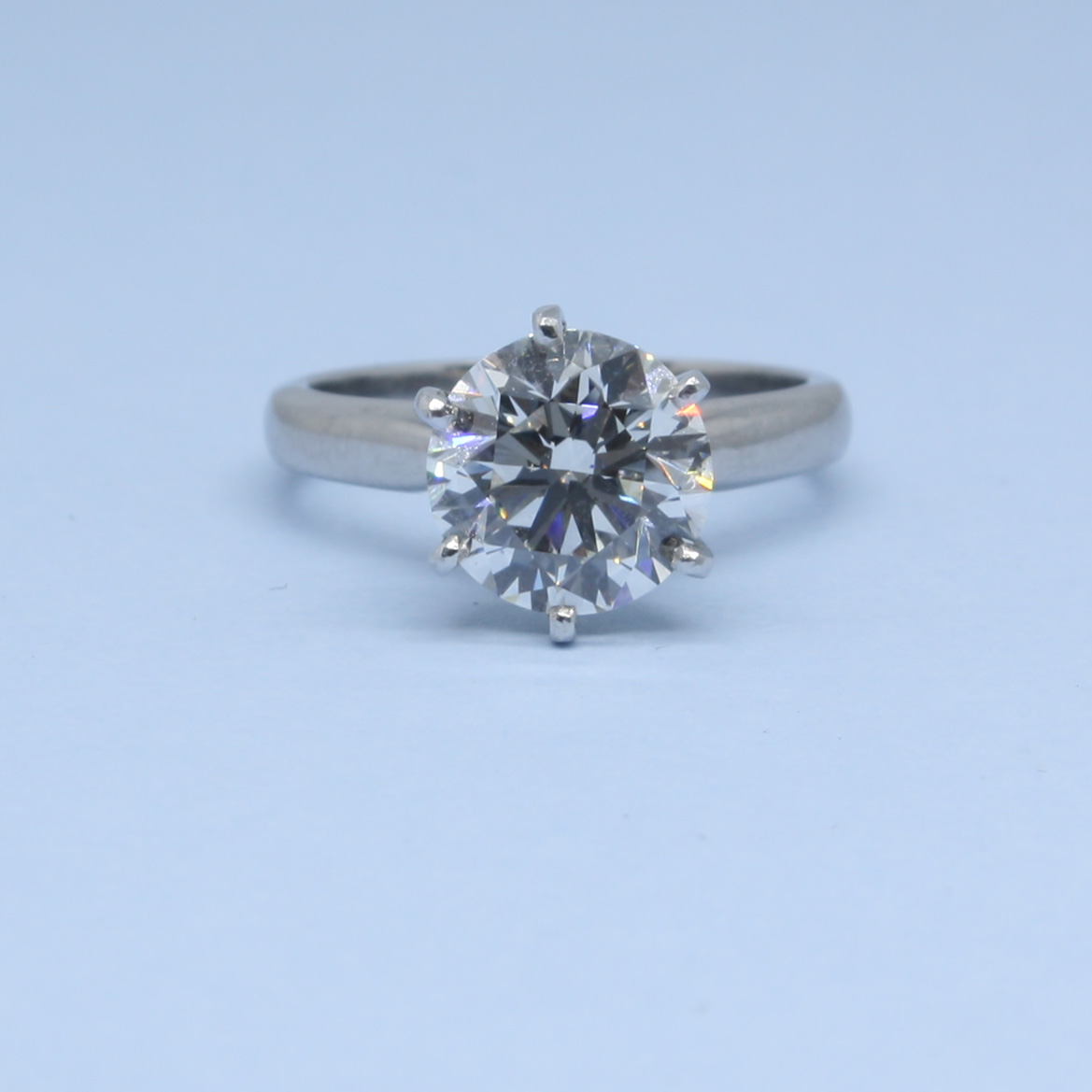 3.03ct GIA Certificated Brilliant Cut Diamond Ring