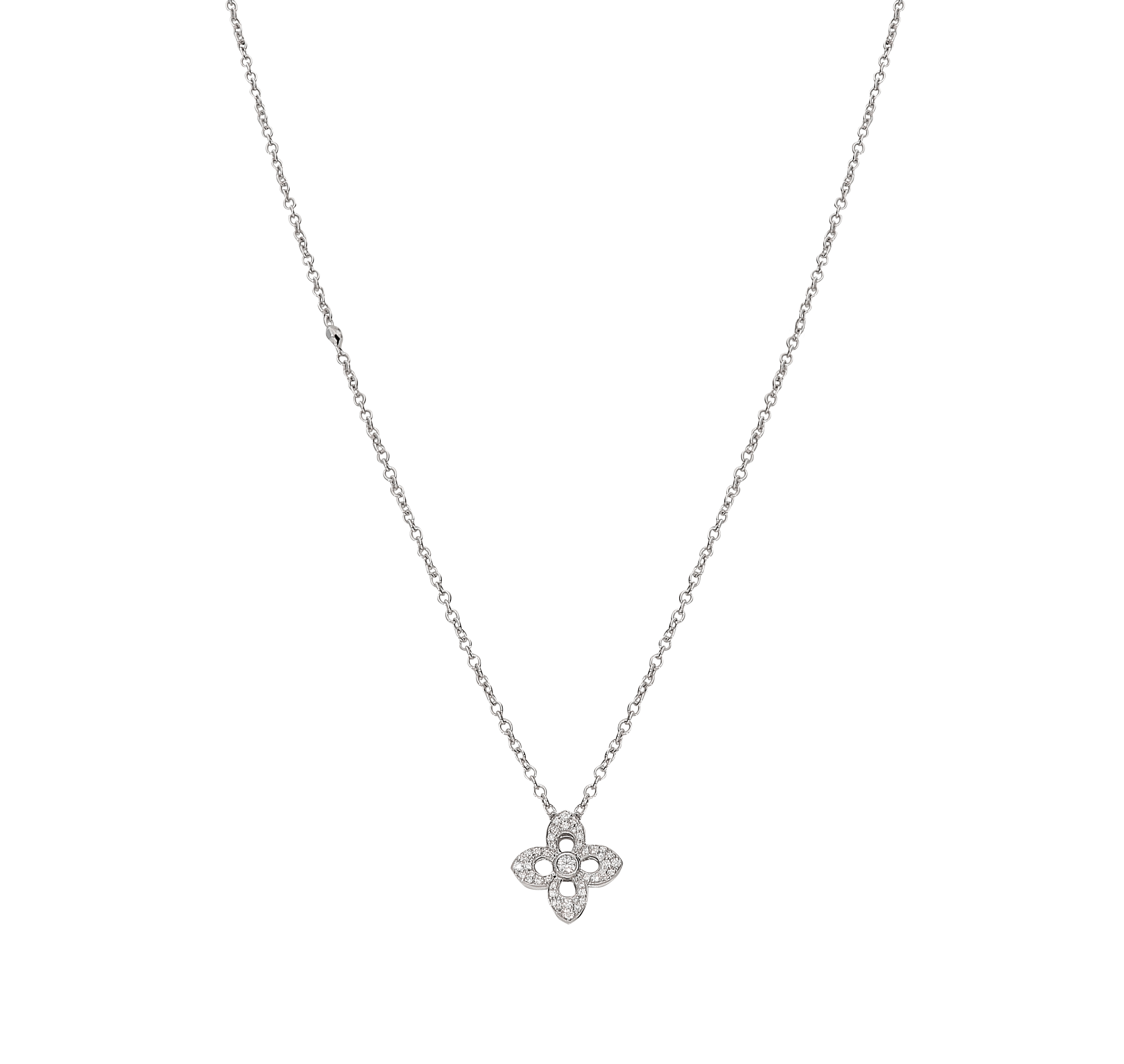 18ct White Gold Pavé Set Diamond Pendant