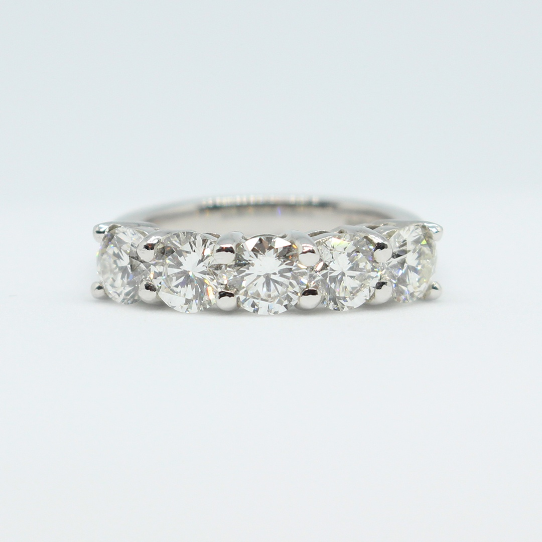 2.03ct 5 Stone Brilliant Cut Diamond Ring – Size K leading edge