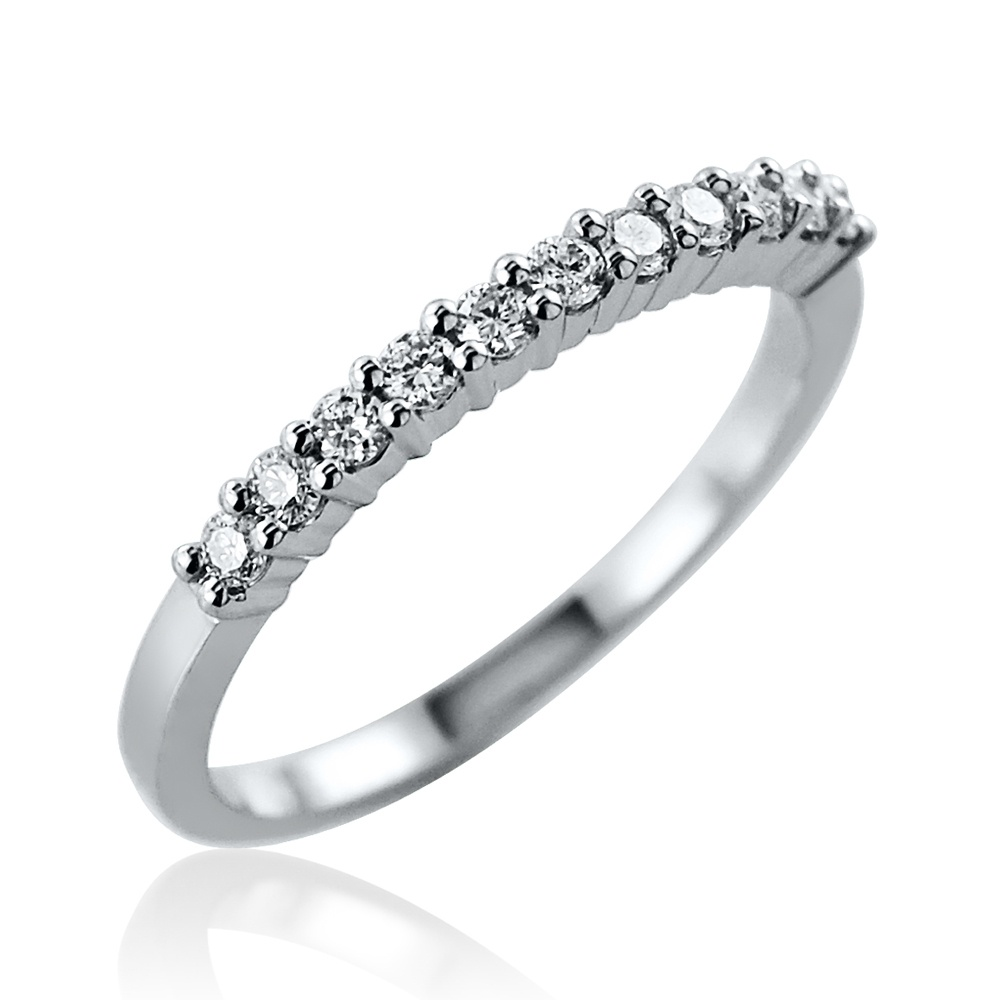 0.21ct Brilliant Cut Diamond Ring – Size M Leading Edge