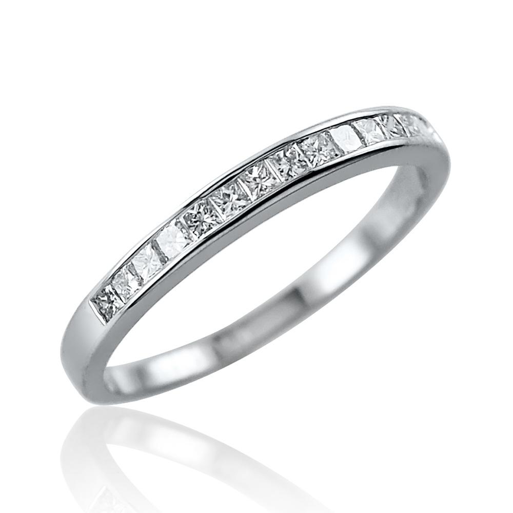 0.21ct Princess Cut Diamond Ring – Size M Leading Edge