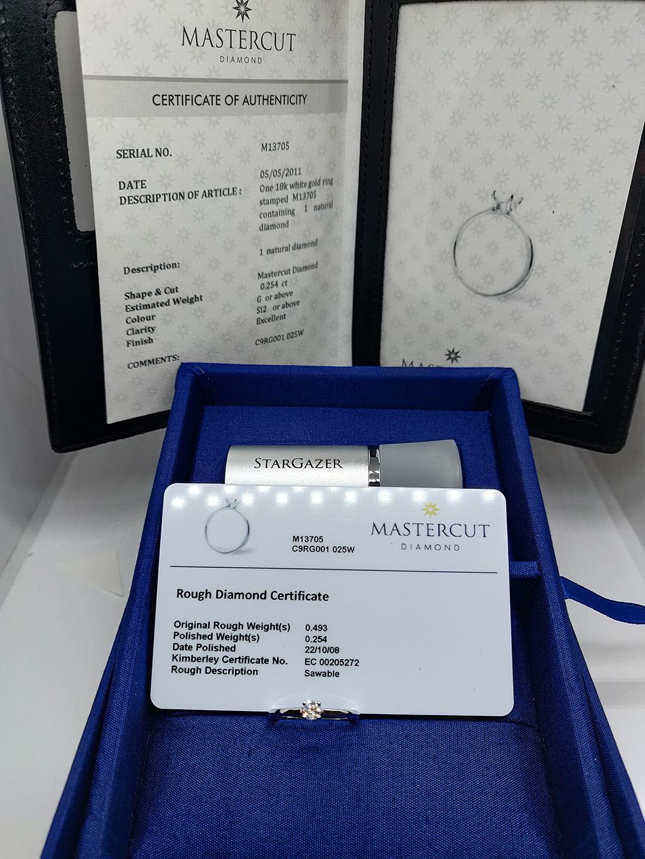 0.25ct Mastercut Diamond 4 Claw Serenity Ring