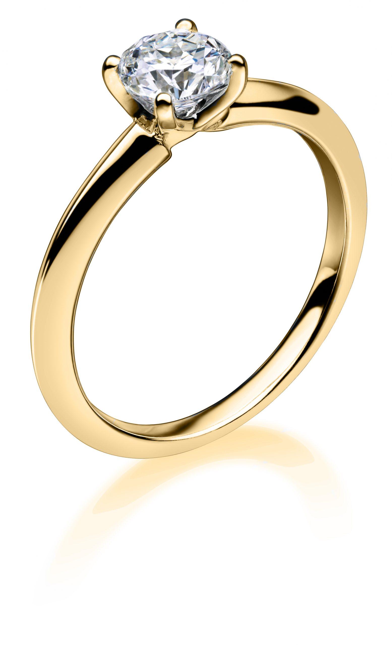 0.55ct Mastercut Diamond 4 Claw Simplicity Ring