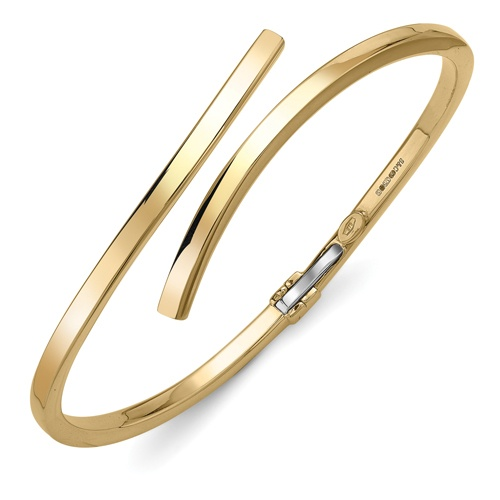 9ct Yellow Gold Crossover Bangle
