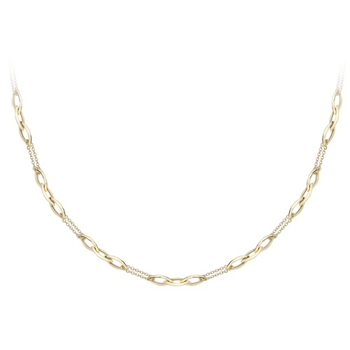 9ct Yellow Gold Chain and Link Necklace