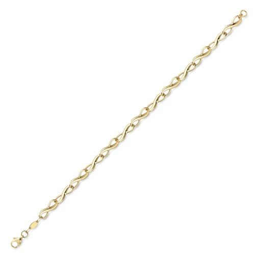 9ct Yellow Gold Infinity Design Bracelet