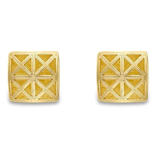 9ct Yellow Gold9ct Yellow Gold Square Lattice Stud Earrings Square Lattice Design Stud Earrings