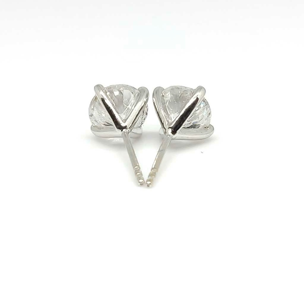 3.00ct 18ct White Gold Diamond Stud Earrings – Preowned
