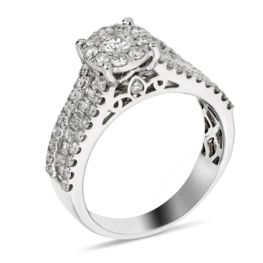 0.99ct 9ct White Gold Diamond Ring