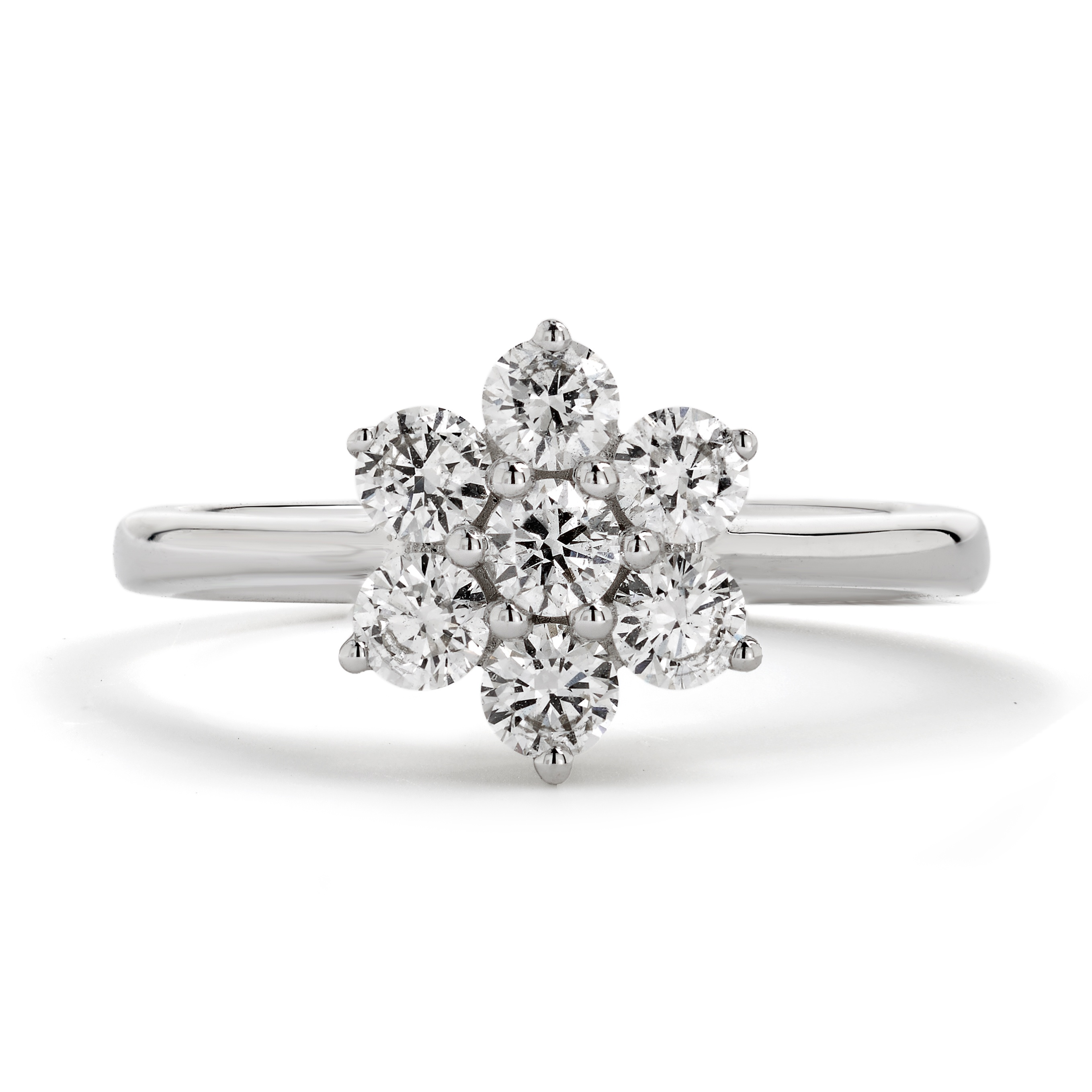 0.50ct 18ct White Gold Diamond Cluster Ring