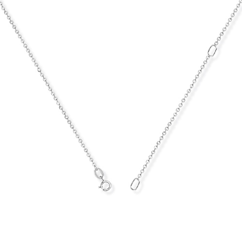 9ct White Gold Diamond Initial L