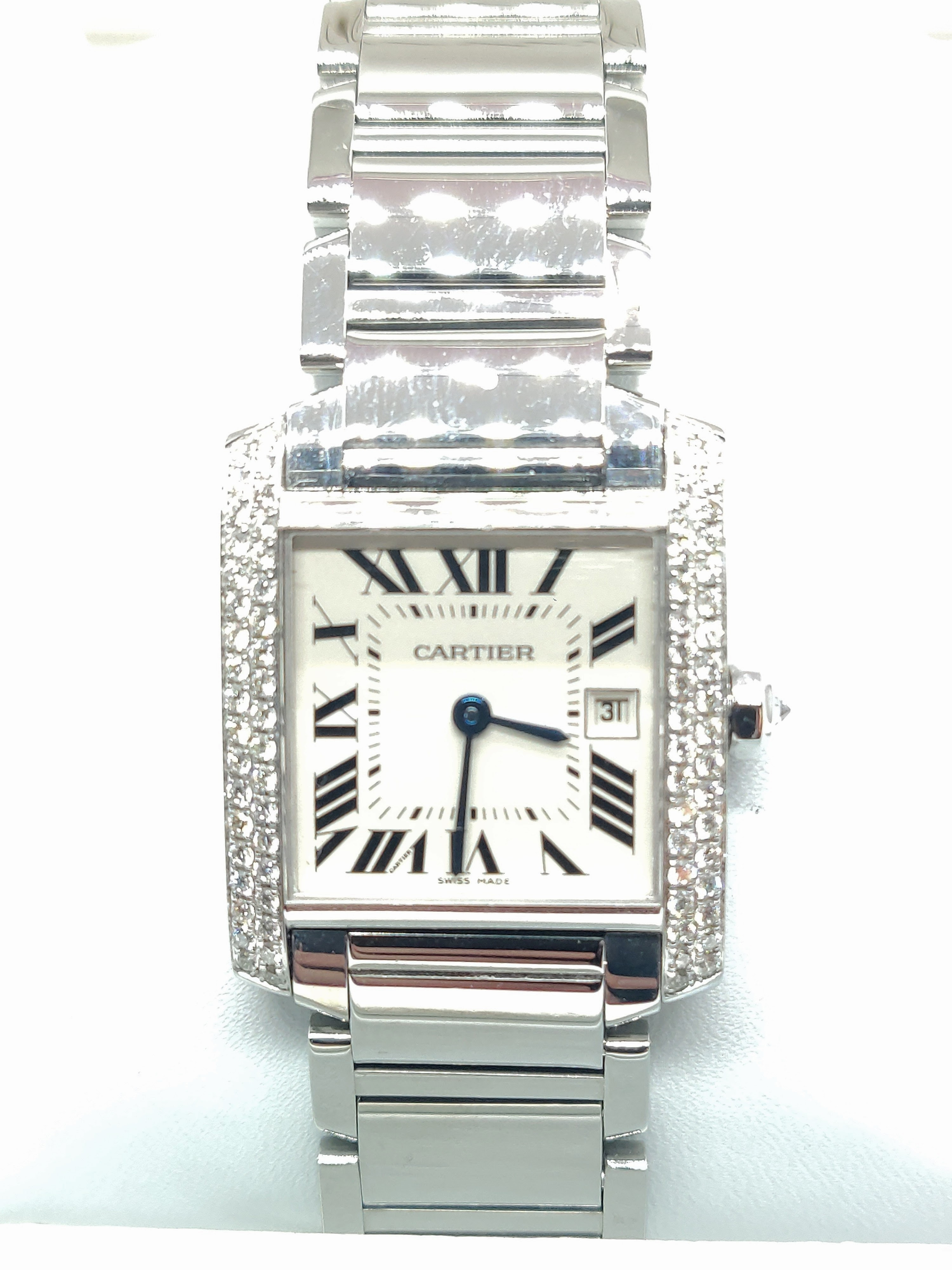 Cartier Ladies Stainless Steel Medium Tank Francaise
