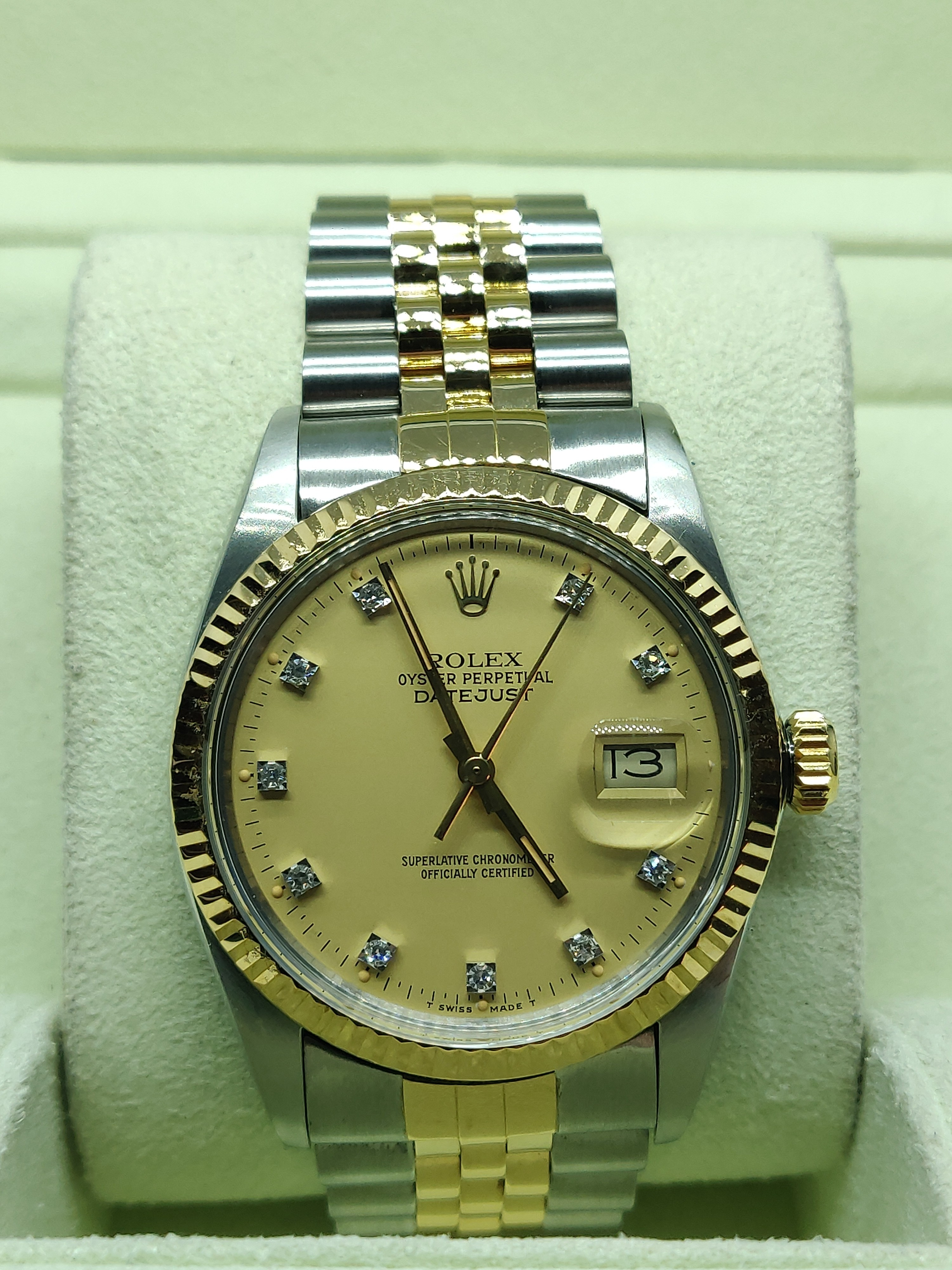 Rolex Datejust 36 with Champagne Dial and Diamond Dots