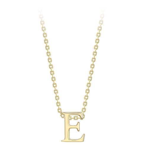 9ct Yellow Gold Initial E