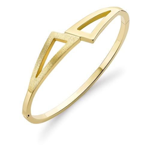 9ct Yellow Gold Triangular Geometric Bangle