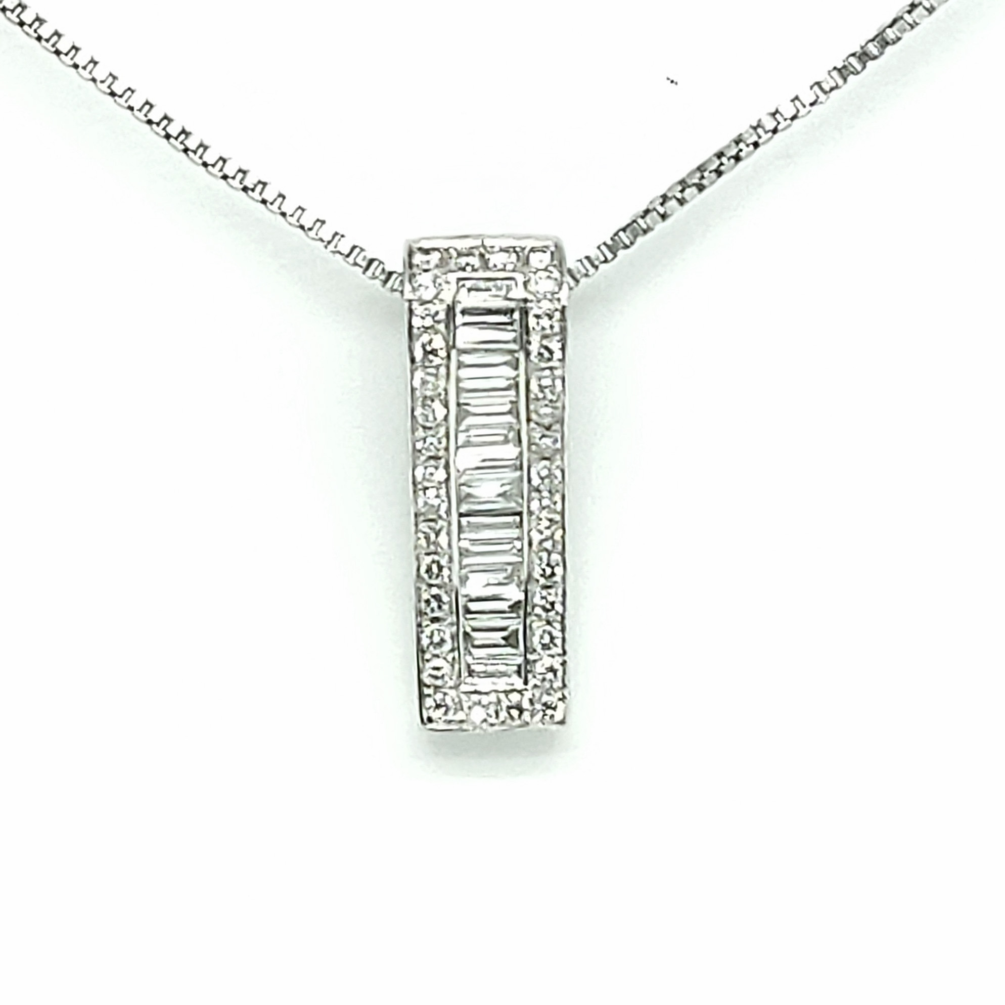 Pre-Owned 18ct White Gold Diamond Pendant