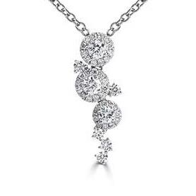 0.58ct, 18ct White Gold Cascade Diamond Pendant