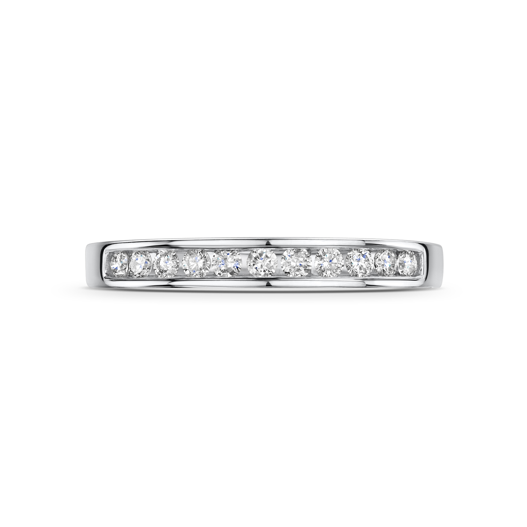 0.50ct 9ct White Gold Diamond Half Hoop Ring