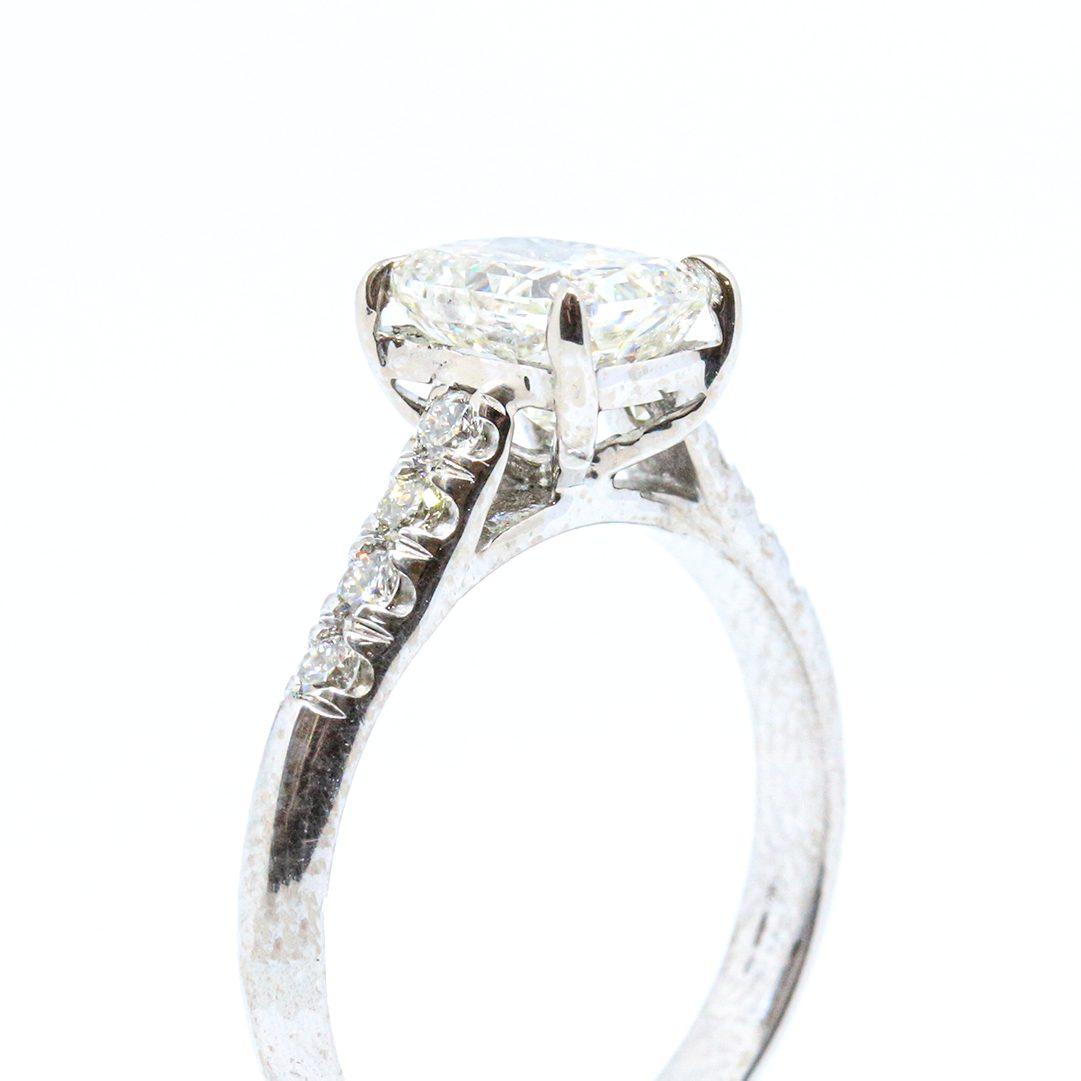 1.62ct Radiant Cut Diamond Ring