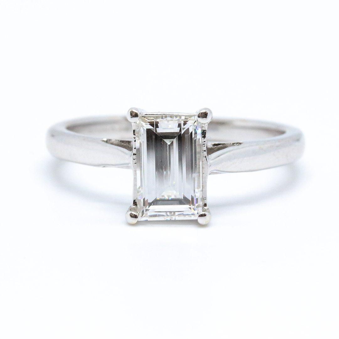 1.01ct Baguette Cut Diamond Ring